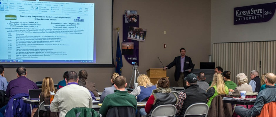 K-State Research & Extension's Joel DeRouchey welcomed attendees and outlined the workshop objectives.