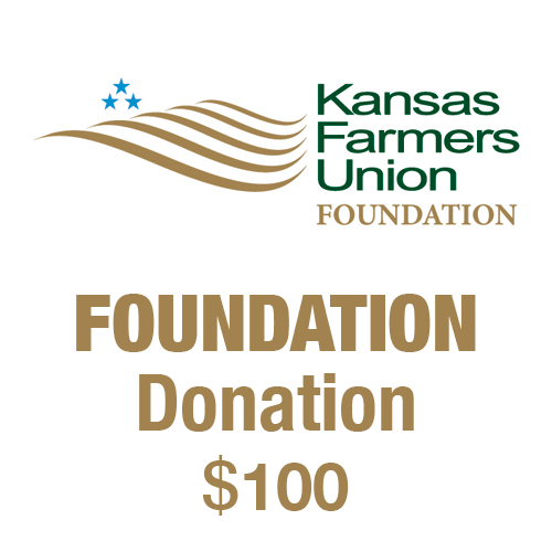 $100 tax-deductible donation to the Kansas Farmers Union Foundation.