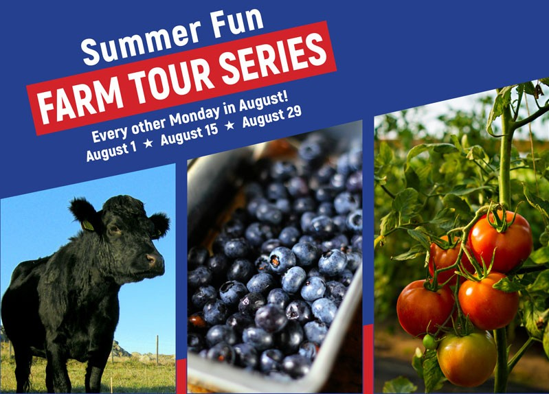 Summer Fun Farm Tour Series August 1, 15, and 29