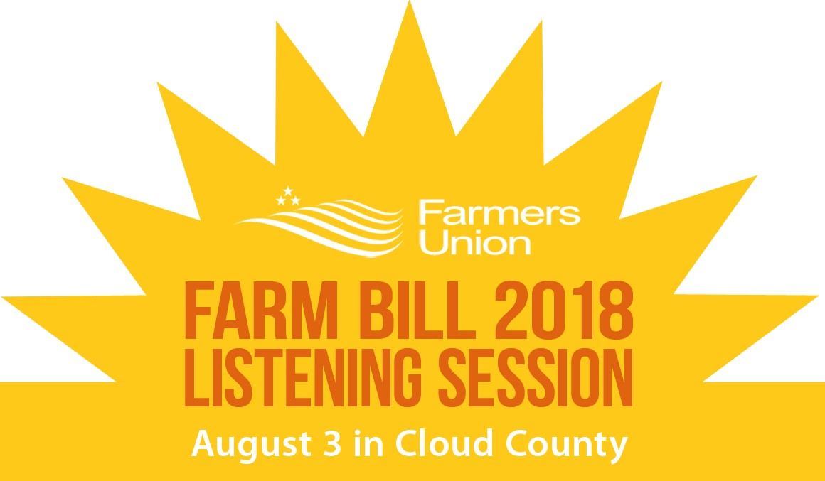 Farm Bill Listening Session: August 3 in Cloud County