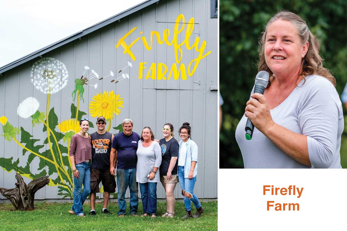 Leah Dannar-Garcia of Firefly Farm. The farm sells, and delivers, the bulk of its produce to local restaurants.