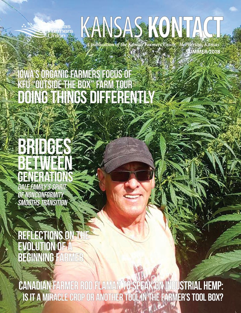 Summer 2018 Kontact Cover featuring Canadian farmer Rod Flaman.