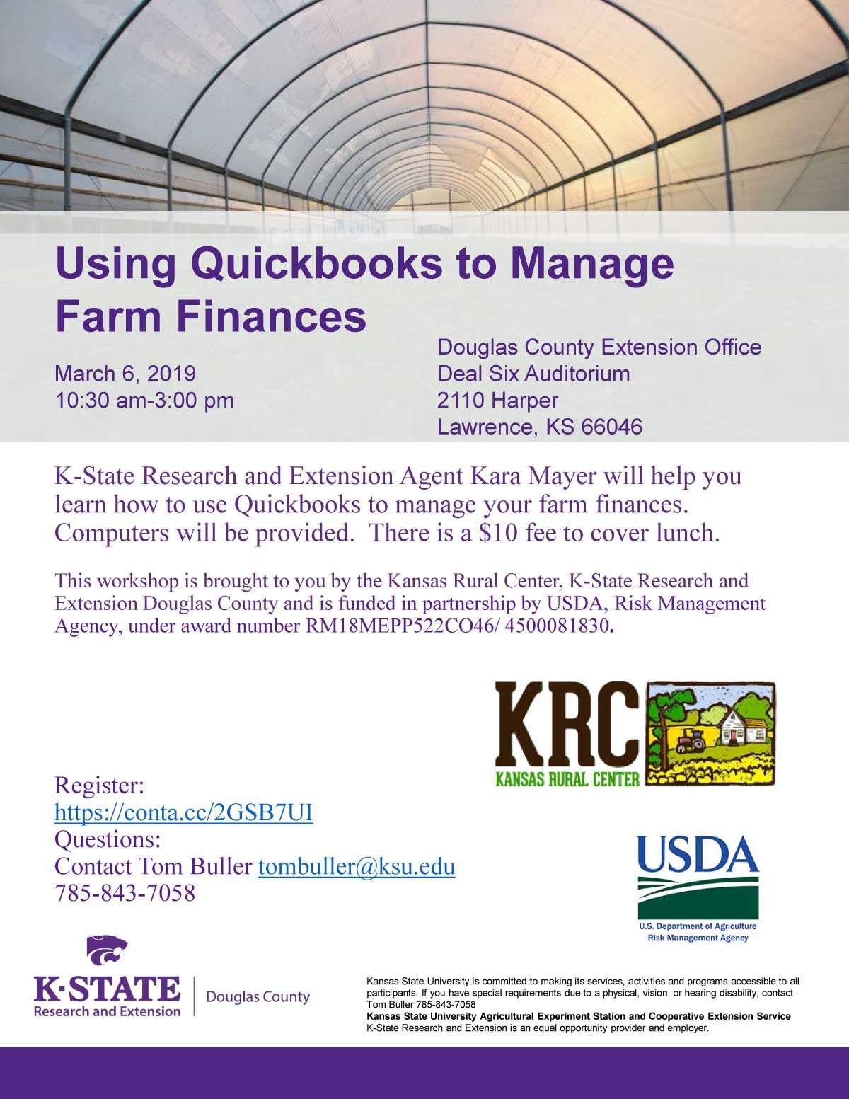 use Quickbooks to manage your farm finances