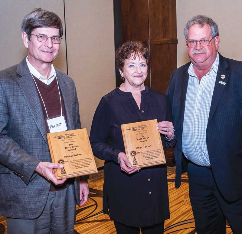 Forrest Buhler and Char Henton Receive KFU's 2018 Ruth Hirsh Awards