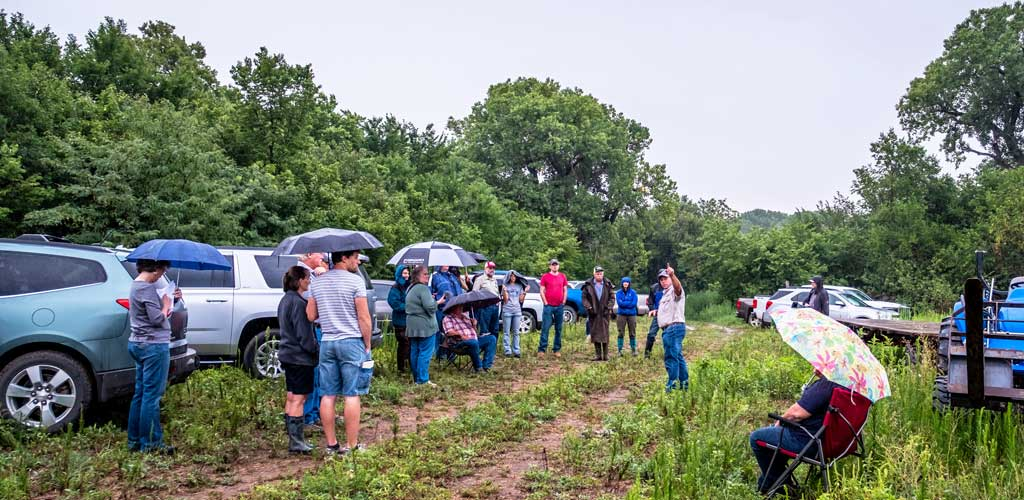 """The """"Thinking Outside the Box"""" tour kicked-off at Dale Strickler's farm."""