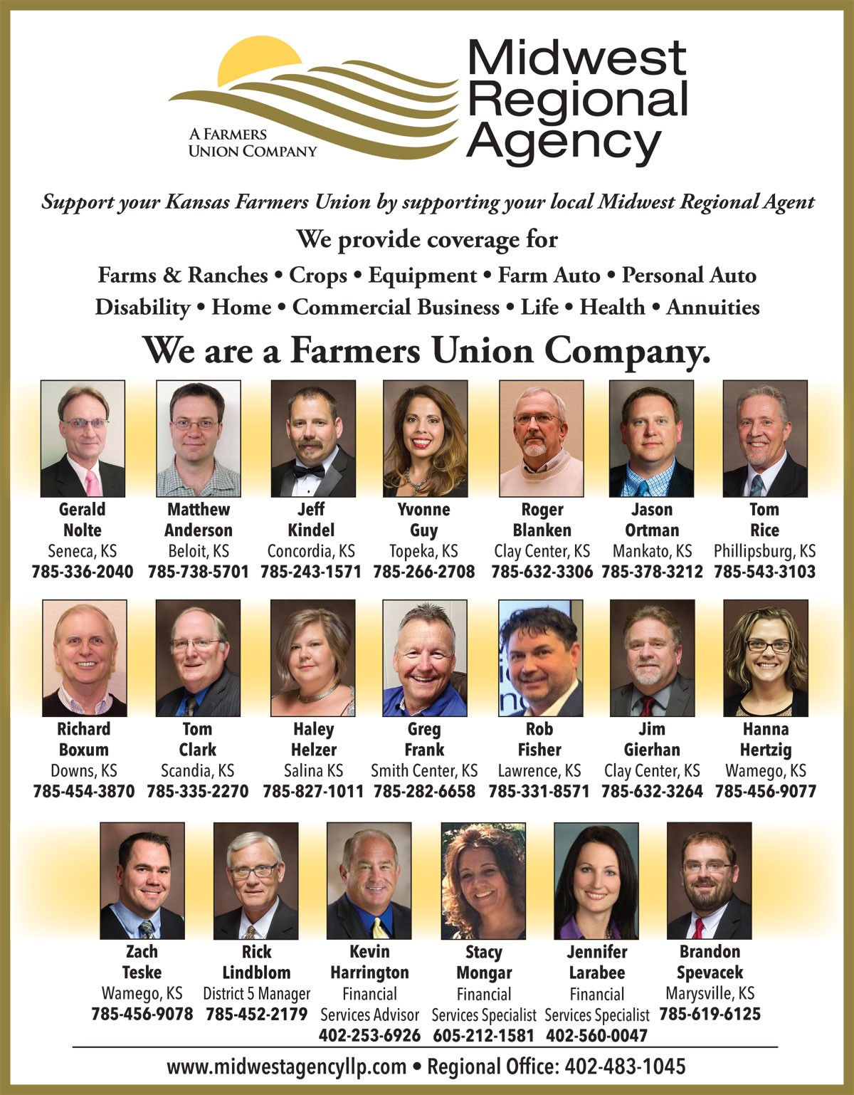 MIDWEST REGIONAL AGENCY AGENTS PAGE 2