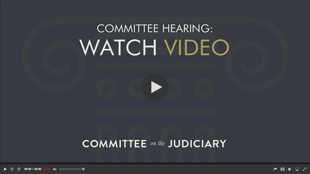 Click to watch the recorded Hearing video.